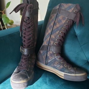 Converse Allstar 70 leather plaid tall lace up